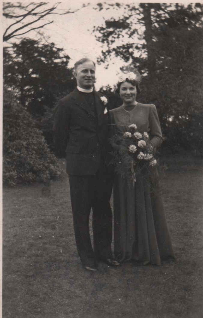 My maternal grand-parents - Reverend James Hugh Jelly and Mrs Edith Mary Joyce Jelly